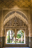Alhambra, Granada, Spain. Window in the Alhambra Palace in Granada, Spain royalty free stock photo