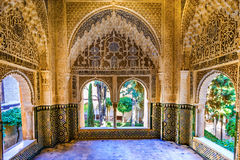 Alhambra, Granada, Spain. Window in the Alhambra Palace in Granada, Spain stock photo