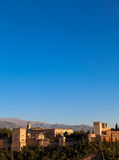 Alhambra in Granada - Spain Royalty Free Stock Photo