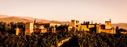 Alhambra in Granada - Spain Royalty Free Stock Photography