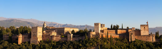 Alhambra in Granada - Spain Royalty Free Stock Photos