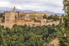 Alhambra in Granada, Spanien Lizenzfreies Stockbild
