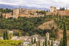 Alhambra, Granada, Spanien Stockbilder