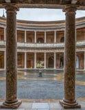 Alhambra Granada, Spanien - Charles V slottinre Fotografering för Bildbyråer