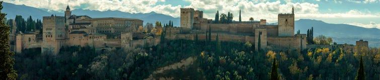ALHAMBRA GRANADA SPANIEN LANSCAPE lizenzfreies stockbild