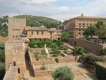 Alhambra in Granada, Spanje stock afbeelding