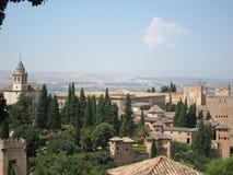 Alhambra in Granada, Spanje stock afbeeldingen