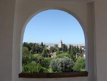 Alhambra Granada Spanje Stock Fotografie