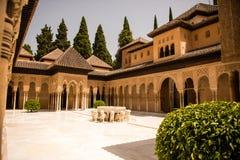 Alhambra Granada Spanje Royalty-vrije Stock Afbeeldingen