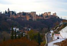 Alhambra in Granada, Spanje Stock Foto's