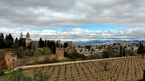 Alhambra in Granada Spanje Royalty-vrije Stock Afbeeldingen
