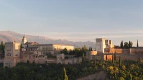 Alhambra granada stock footage