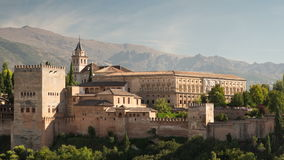 Alhambra granada stock video footage