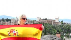Alhambra Granada w Hiszpania zdjęcie wideo