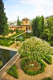 Gardens of Partal. Palace of Alhambra in Granada, Andalusia, Spain. royalty free stock photos
