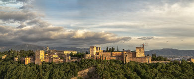 Alhambra - grand panorama Photo libre de droits