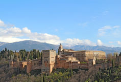 The Alhambra in Granda, Spain Stock Images