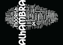 The Alhambra Grenada Text Background Word Cloud Concept stock illustration