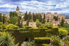 Alhambra à Grenade, Espagne Photo libre de droits