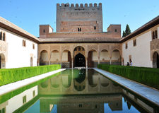 alhambra hörn Royaltyfri Fotografi