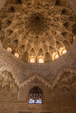 Alhambra Hall Honeycomb room in Spain. View of Honeycomb room in Alhambra Palace in Spain Stock Image