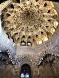 Alhambra i Granada, garnering och konst royaltyfri bild