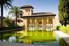 Alhambra i Granada, Spanien Arkivfoton