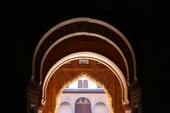 Alhambra. Image, historic building in Spain Royalty Free Stock Images