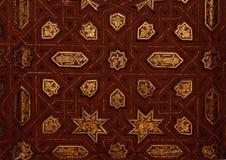 Alhambra: incisione dell'oro Fotografie Stock
