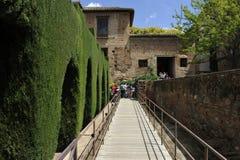 Alhambra ingång av de Nasrid slottarna, Granada, Spanien Arkivfoton