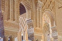 Alhambra-Innenraum Lizenzfreie Stockbilder