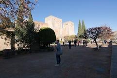 Alhambra-Innenraumdetails Stockfotografie