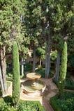 Alhambra inner garden. Royalty Free Stock Images