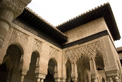 Alhambra interior courtyard Royalty Free Stock Image