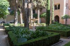 Alhambra Islamic Royal Palace, Granada, Espanha Século XVI fotos de stock