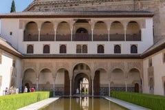 Alhambra Islamic Royal Palace, Granada, Spain. 16th century. Exterior Royalty Free Stock Photo