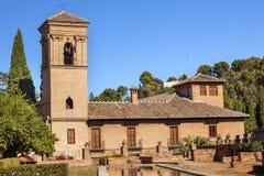 Alhambra kamień Buduje Granada Andalusia Hiszpania zdjęcie stock