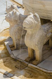 Alhambra lions detail Royalty Free Stock Images