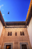 Alhambra Mexuar Courtyard Moorish Wall Designs Bird Granada Spain. Alhambra Mexuar Courtyard Moorish Wall Windows Patterns Designs Granada Andalusia Spain stock images