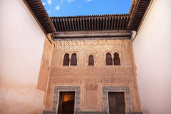 Alhambra Mexuar Courtyard Moorish Wall Designs Granada Spain. Alhambra Mexuar Courtyard Moorish Wall Windows Patterns Designs Granada Andalusia Spain stock photography