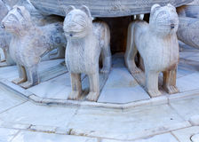 Alhambra Moorish Courtyard Lions Fountain Statue Granada Spain Royalty Free Stock Photo