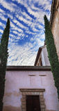 Alhambra Moorish Courtyard Morning Sky Granada Andalusia Spain Royalty Free Stock Photos