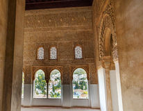 Alhambra Moorish Wall Designs City View Granada Andalusia Spain Royalty Free Stock Image