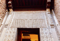 Alhambra Moorish Wall Designs Entrance Granada Andalusia Spain Royalty Free Stock Images