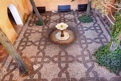 Alhambra Mosaic Fountain Garden Granada Andalusia Spain. Alhambra Mosaic Garden Fountain Granada Andalusia Spain Stock Photos