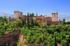 Alhambra na manhã imagens de stock