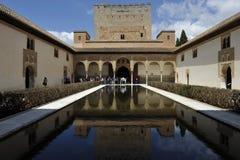 Alhambra Nasrid slott, Granada, Spanien Arkivfoto