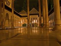 alhambra natt Royaltyfri Fotografi