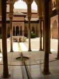 Alhambra Nazarie paleis stock foto