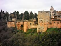 Alhambra-Nazaries palaces-Granada-Andalusia-Spain-Europe. AlHAMBRA -NAZARIES PALACES -ANDALUSIA-sPAIN Stock Photography
